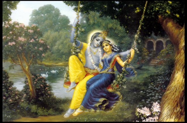 From Krishna and Radhana, Purusha and Prakriti, Creation is Spontaneously Brought Forth