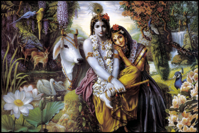 Love is Surrender. Radha loves Krishna. You get what you surrender to.