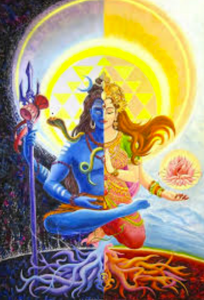 Arthanaranarisvarara - A form of Lord Shiva depicted as half-male-half-female-god.