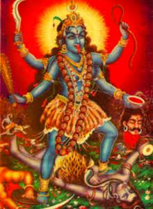 Kali, left knee raised