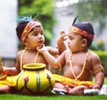 Krishna and Arjuna playing