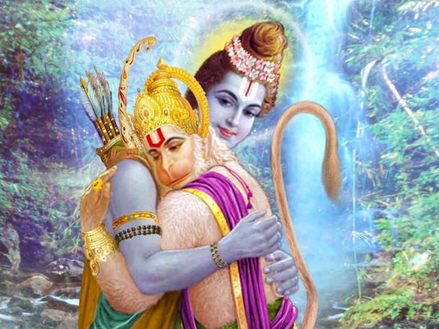 Hanuman & Krishna