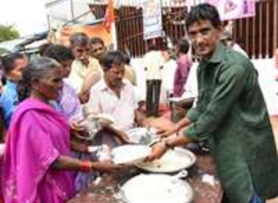Feeding the needy